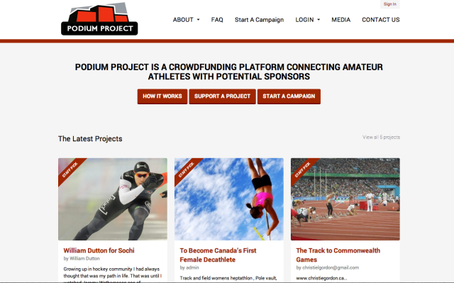 Podium Project Homepage